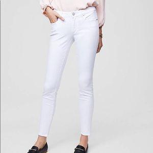 Ann Taylor Loft Hugh-Waist White Jeans